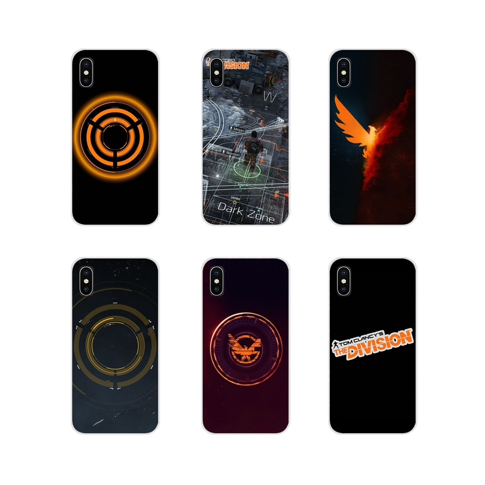 For Xiaomi Redmi Note 3 4 5 6 7 8 Pro Mi Max Mix 2 3 2S Pocophone F1 Tom Clancy's The Division logo