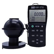 Test de résistance luminomètre testeur de Flux lumineux de TES-133 réponse précise et instantanée pour les illuminateurs de fibres led