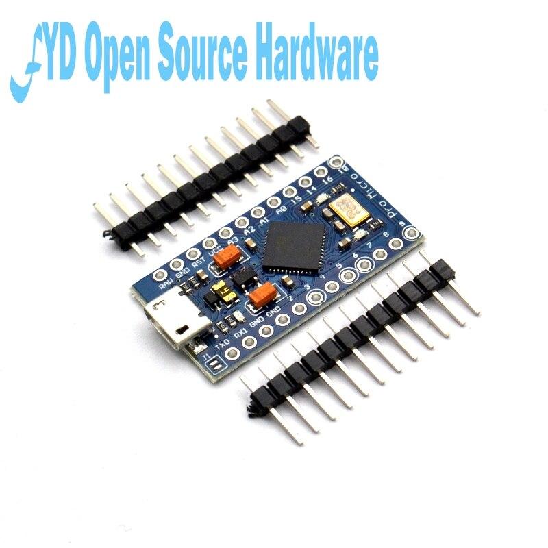 1 шт. Pro Micro ATmega32U4 5 в 16 МГц Замена ATmega328 для Arduino Pro Mini с 2-рядным штыревым разъемом для Leonardo Mini Usb интерфейса