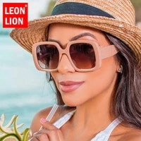leonlion square sunglasses for women 2021 vintage gradient eyewear womenmen elegant glasses female eyewear men retro shades tea