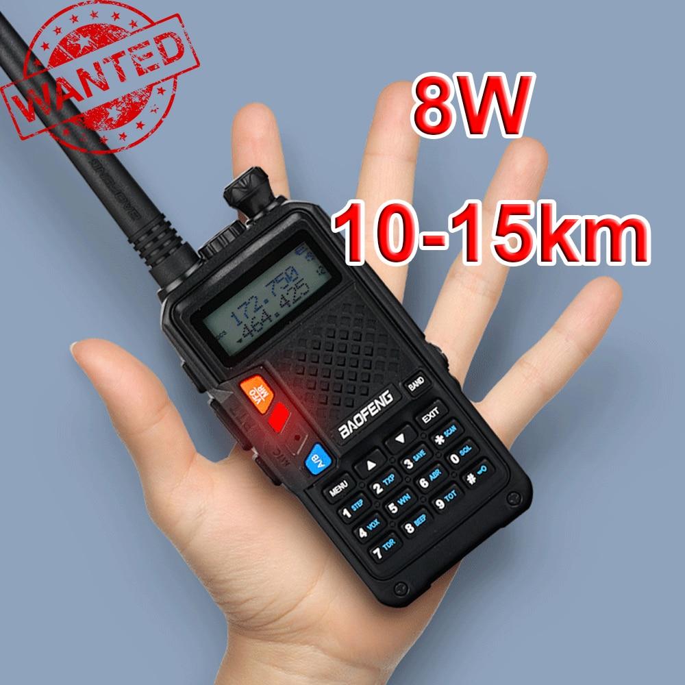 Walkie-Talkie Baofeng BF R9 8W 10km 128 Channels Two Way CB Ham Radio  VHF UHF Dual Band Biking/Hiking/Camping/Travel/Excursion