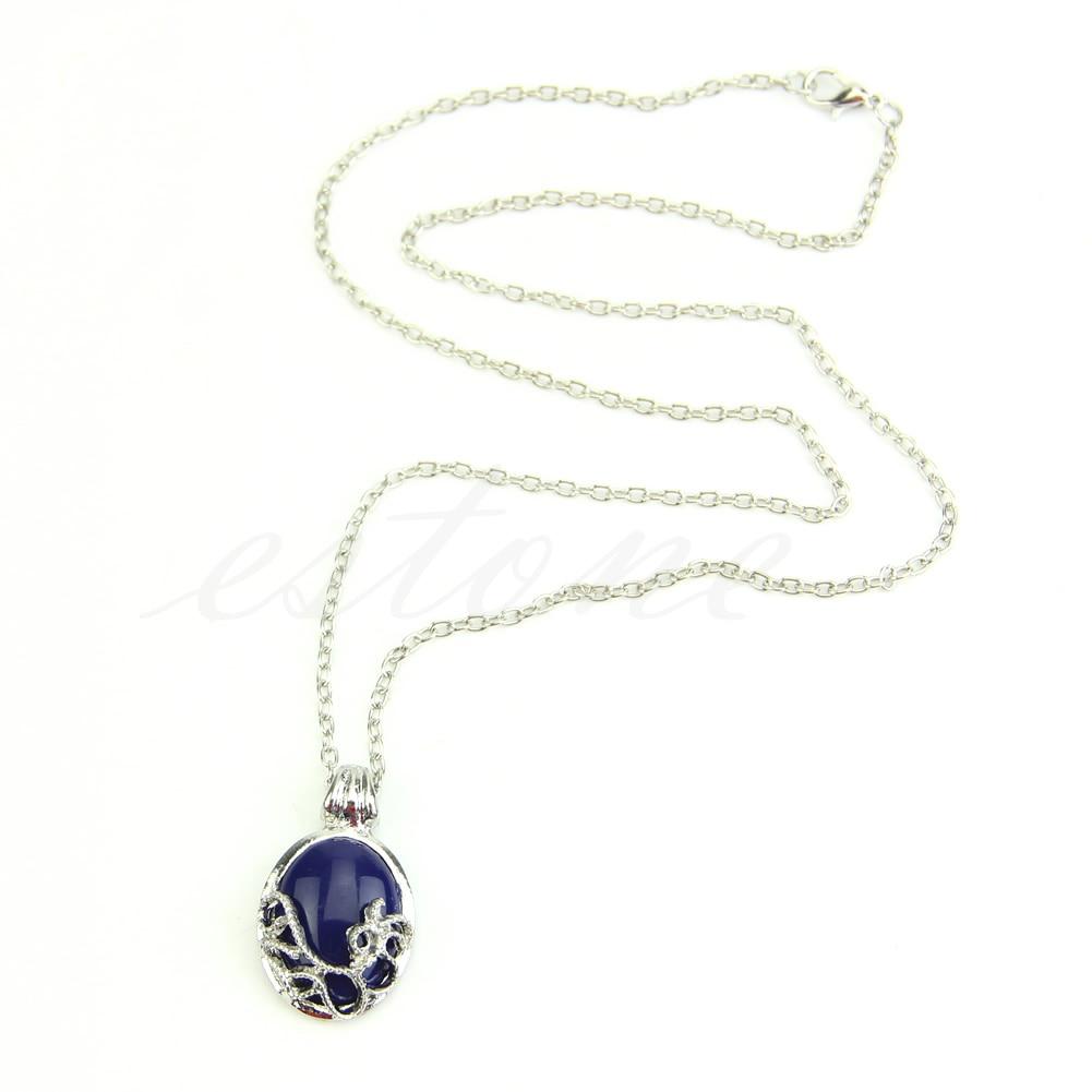Popular vampiro diário colar katherine anti-luz solar lapis lazuli pingente de corrente colares para feminino charme colar jóias