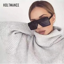Largesized Retro Luxury Women Sunglasses Gradient Shades Square Big Frame Fashion Stylish Brand Desi