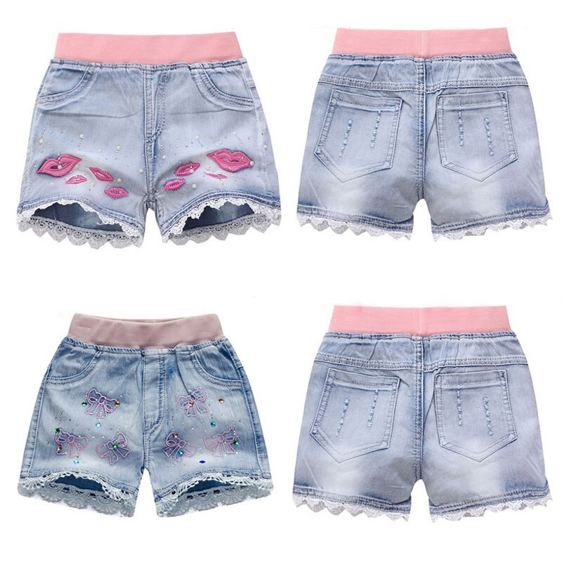 Girls Denim Shorts Teenagers Summer Lace Short Pants Kids Beach Clothes Children's Shorts For Teenag