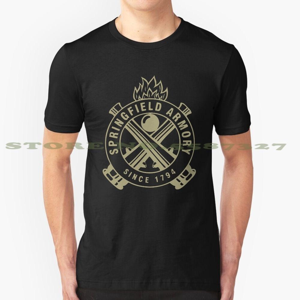 Camiseta blanca y negra de armas de seguridad para hombres y mujeres de la Armada DE ARMAS semiautomático