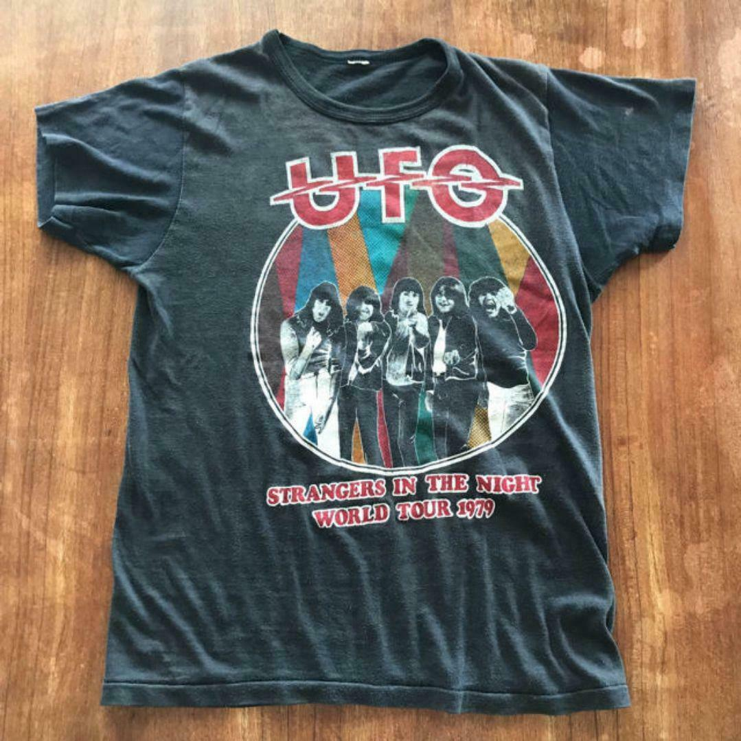 Vintage 1979 Ufo Michael Schenker, camiseta de banda de Rock duro, talla S 2543