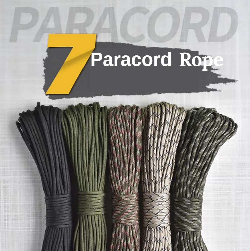 Паракорд длиной 31 м, 200 цветов, 4 мм, 7 нитей, Паракорд 550 для выживания, парашютный шнур, шнурок, походная веревка для кемпинга, бельевая веревк...