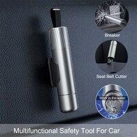 Новый портативный многофункциональный аварийный выключатель для стекла Escape in water, резак для ремня безопасности автомобиля, инструмент для ...