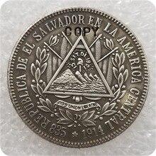 1914 El Salvador 25 monedas de copia