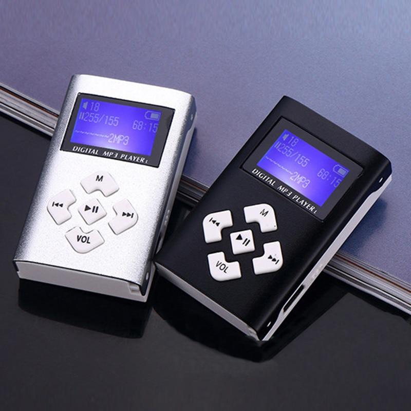 1PC Music MP3 Player USB Mini Digital MP3 Music Player LCD Screen Metal Support 32GB Micro SD Card 3