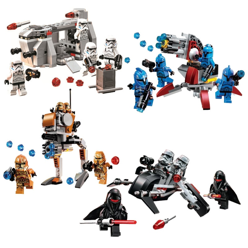 Star Wars nave espacial Microfighters Millennium At-st bloques de construcción de ladrillos juguetes compatibles con Lepining 75078 75088 75089