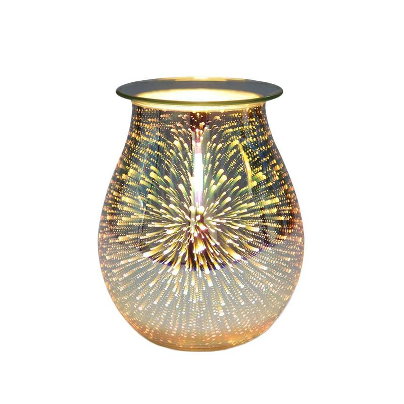 Trimming Style 3d Glass Aromatherapy Lamp Glass Candle Light Firework Aromatherapy Lamp Trimming Switch