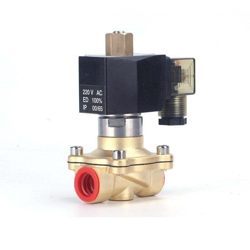 2 W-32 K 220v 24v válvula solenoide de agua normalmente abierta DN32 2/2 FUNCIONAMIENTO DE piloto