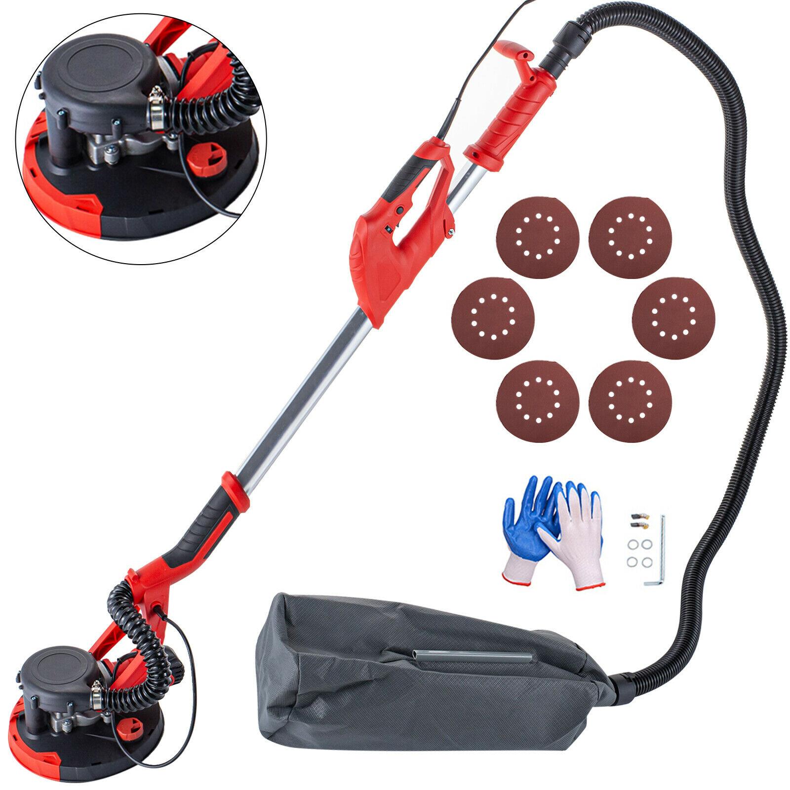 Electric Drywall Sander Extendable Sander with Vacuum Bag 750W Wall Disc Sander
