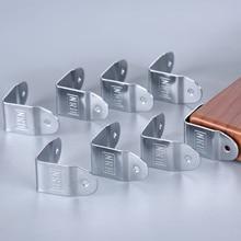 8 pièces Aviation Flight Case coin supports en bois boîte armoire métal bord coin protecteurs couvre meubles matériel 35x19mm