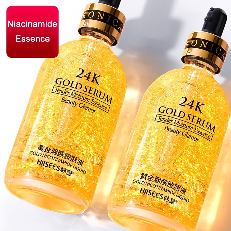 LAIKOU 24k Gold Face Serum Hyaluronic Acid Moisturizer Essence Cream Whitening Day Creams Anti Aging Wrinkle Acne Art