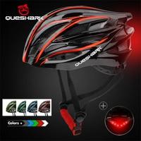 Велосипедный шлем QUESHARK, со светодиодной подсветкой, цвет в ассортименте