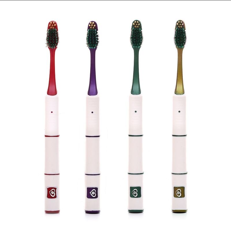 4PCS/Pack Double Ultra Soft Bamboo Charcoal Nano Toothbrush White Tooth Brush Dental Personal Care T