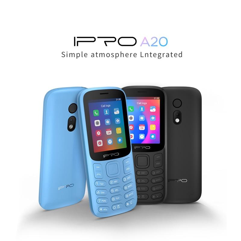 Destaque Telefone IPRO Celulares A20Mini Featured Mobile Phones Dual SIM Card Phones 800mAh Bluetooth GSM Espanol Language Phone