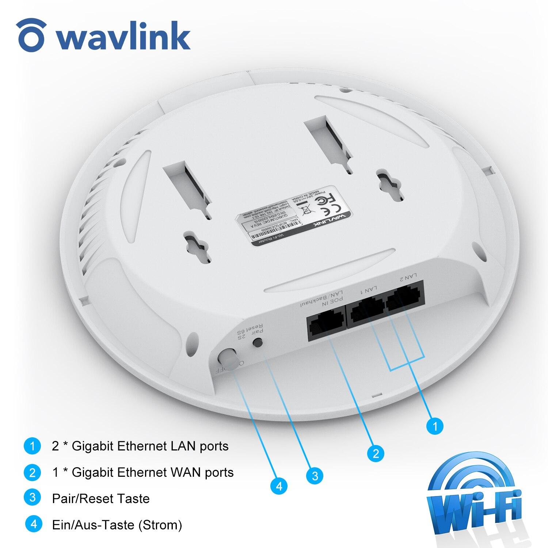 Wavlink-enrutador WiFi de montaje en techo de alta potencia, extensor de malla,...