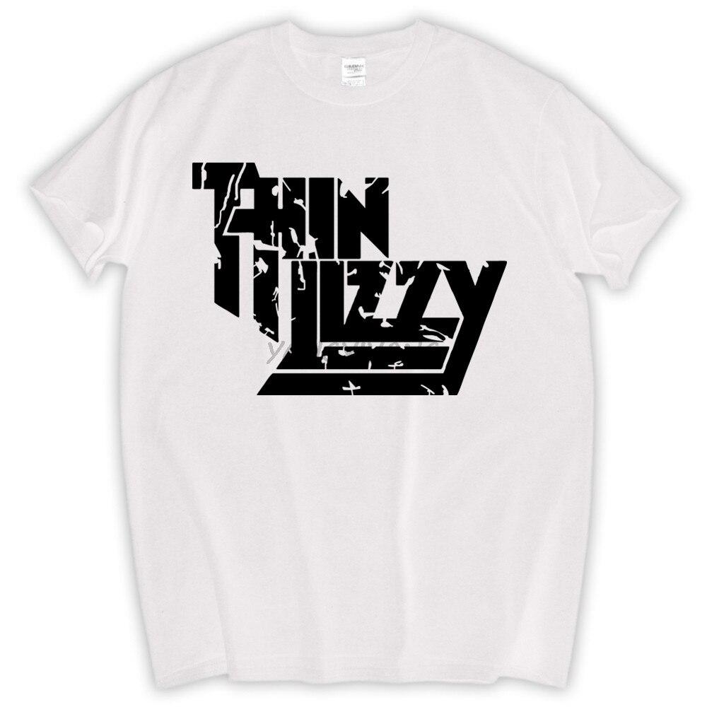 Livraison gratuite Camiseta mince Lizzy hommes t-shirt bande de Rock dur hommes t-shirt hauts musique t-shirt