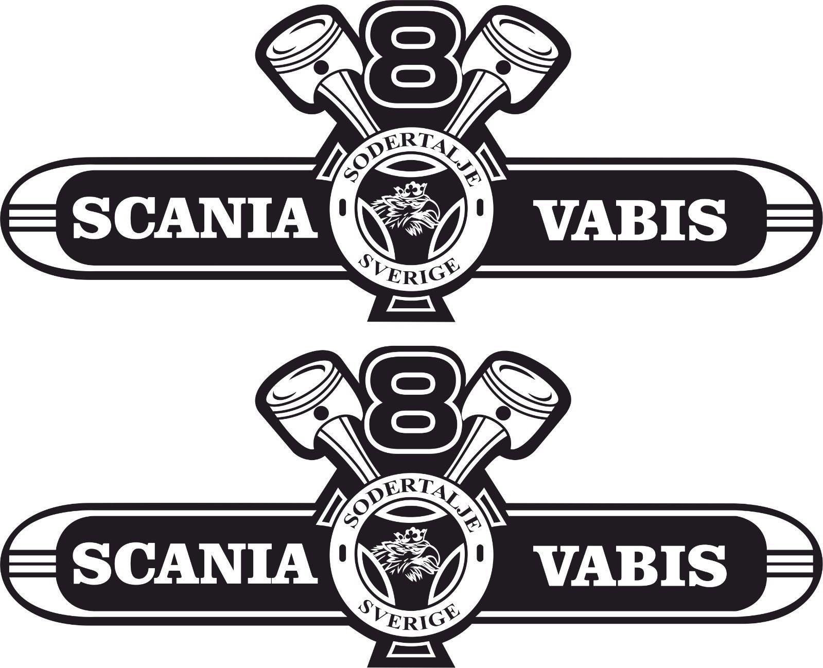 Для x2 Scania V8 Vabis наклейки на большую крышу наклейки любой цвет графика 1000 мм x 400 мм