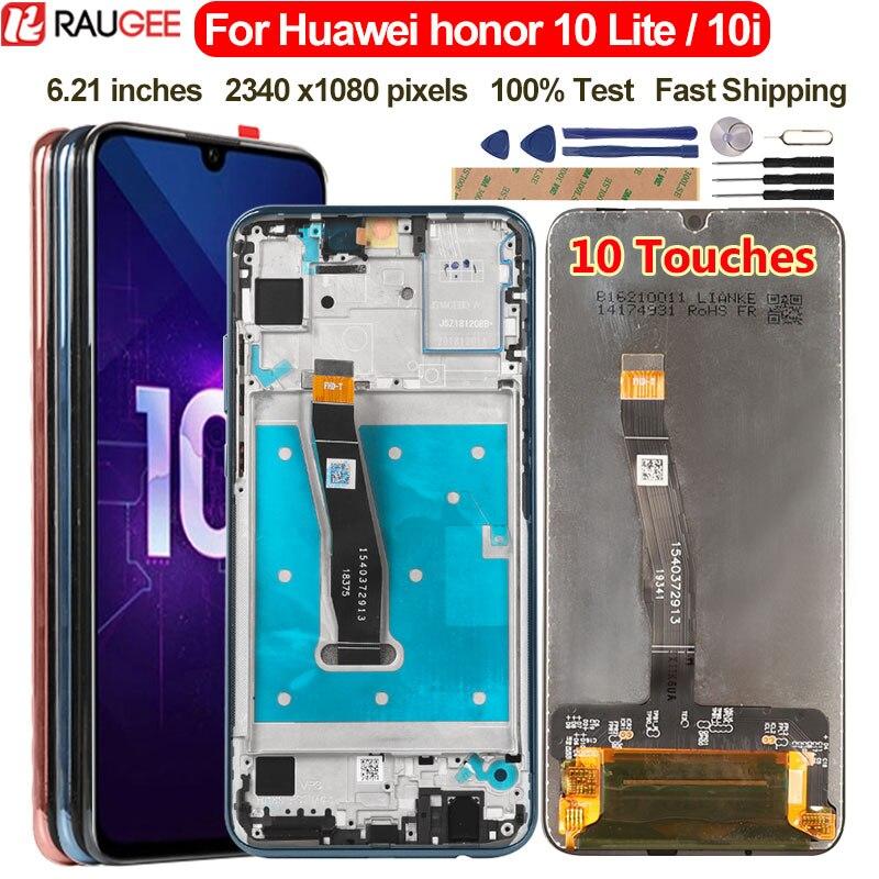 De pantalla para Huawei Honor 10 Lite pantalla LCD pantalla táctil de reemplazo por Honor 10 Lite 10i HRY-LX1 HRY-LX2 HRY-LX1T pantalla LCD