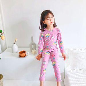 2pcs/set Cartoon Sleepwear Suits For Children Kids Boys Girls Clothes Soft Autumn Children Top Pants Sleeping Wear For Kids