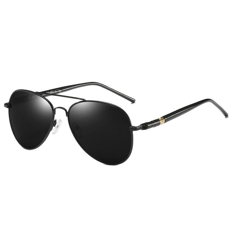 Солнцезащитные очки водительские для мужчин и женщин UV-400, роскошные поляризационные, винтажные, черные, дизайнерские, для вождения