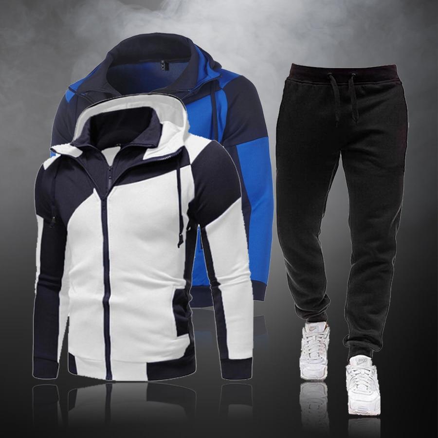Новые 2021 повседневные спортивные костюмы мужские комплекты нижнего белья Детские кофты с капюшоном и штаны, комплект из 2 предметов, рубашк...