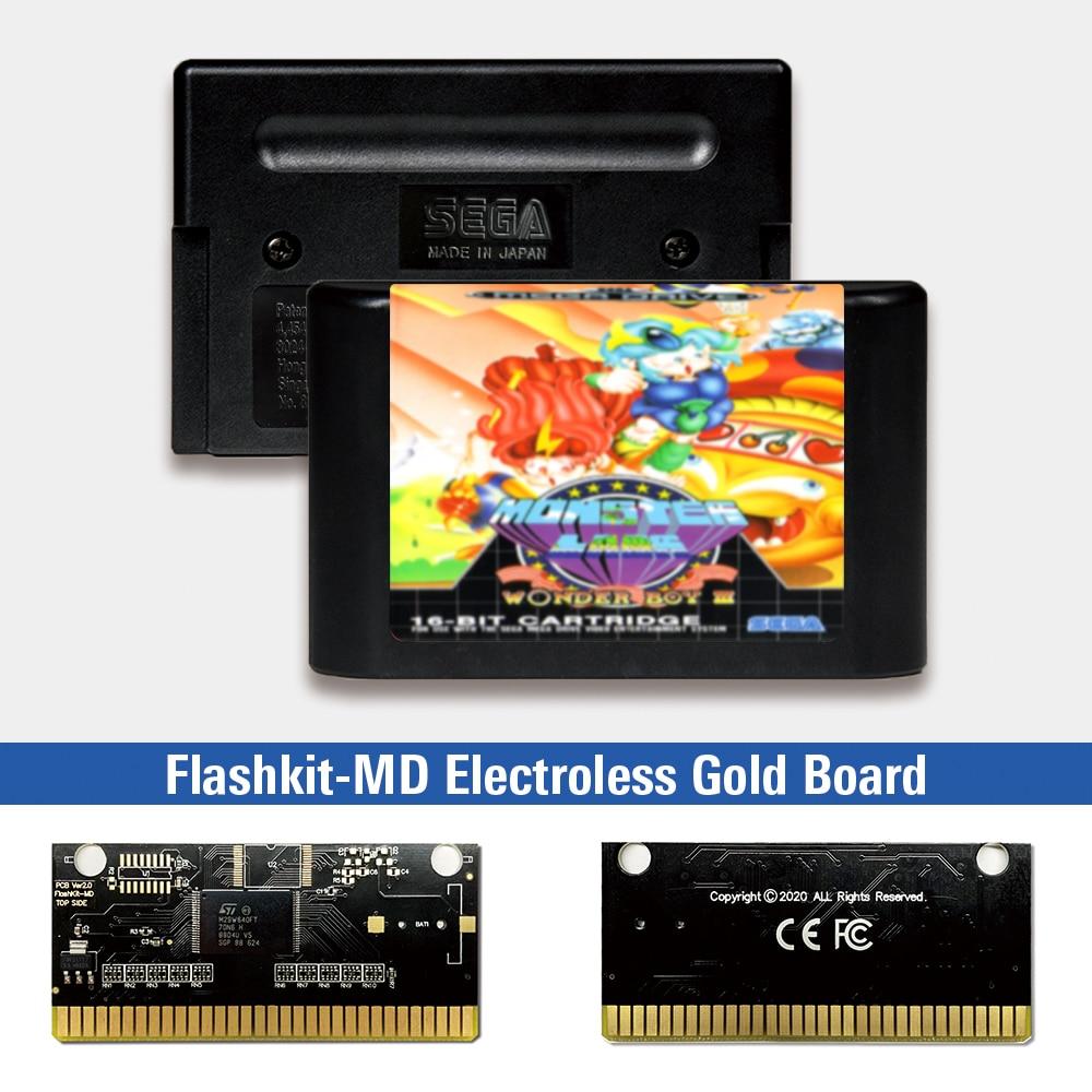 El chico maravilla III monstruo guarida-EUR etiqueta Flashkit MD químico oro de...