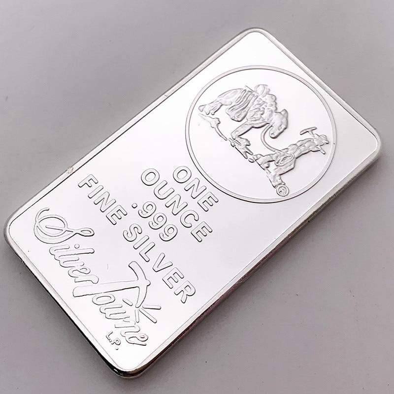 1 унций 999 тонкий серебряный слиток золота Американский навигатор США Юнион металлическая монета Коллекционная стоимость