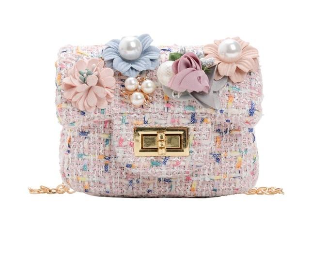 Flowers Kids Girl Bags Crossbody Mini Shoulder Bag PU Leather Cute  Bowknot Kids Girls Casual Messenger Bags Handbag