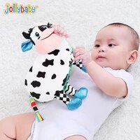 jollybaby story teller autism educational montessori toys cloth book for baby parent child reading animals dolls