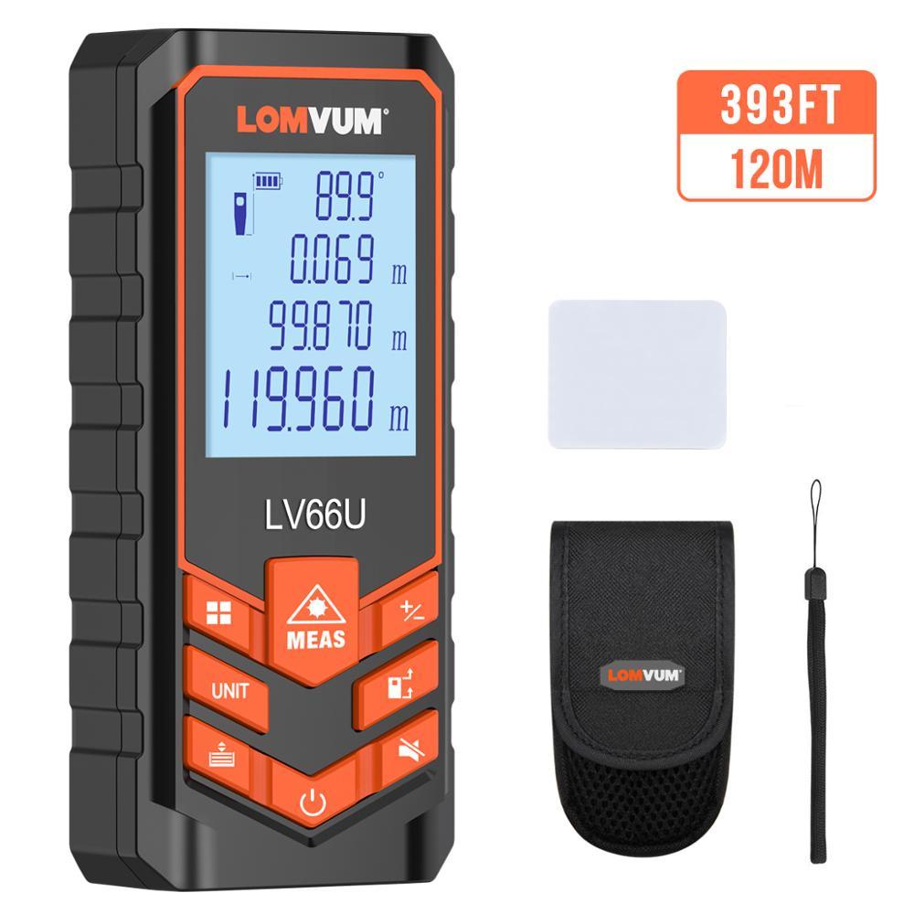 LOMVUM Laser Range Finder LV66U Auto Level Distance Meter Electronic Analysis Measuring Instrument Rangefinder 40m 80m 100m120m