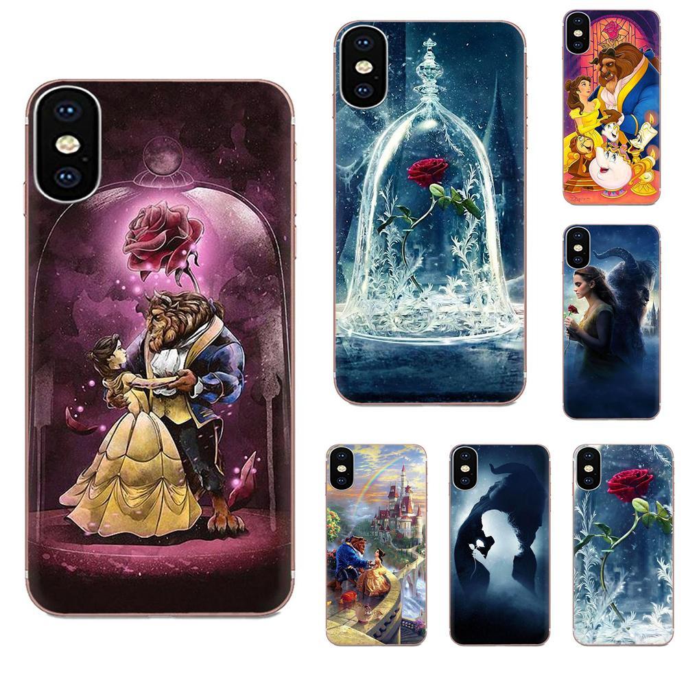Beauty Beast Rose Soft Silicone TPU Transparent Pattern For Samsung Galaxy A51 A71 A81 A90 5G A91 A01 S11 S11E S20 Plus Ultra