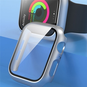 Shockproof Watch Protective Case with Tempered Film Screen Protector Matte Shell for Apple Watch 1/2/3 38MM 42MM Watch