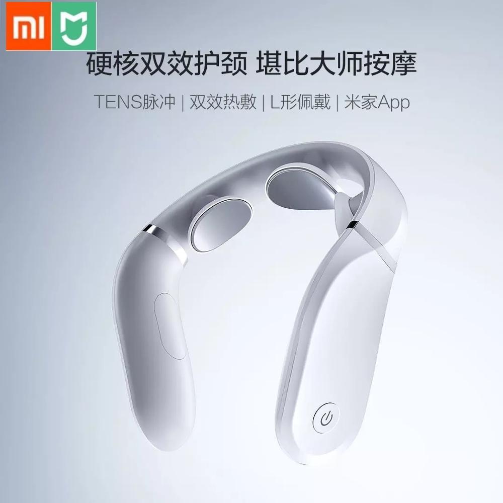 Novo xiaomi cervical massageador g2 dez pulso proteger o pescoço apenas 190g duplo efeito comprimir l em forma de usar trabalho com mijia app