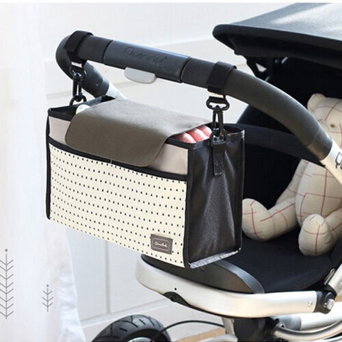 Fashion Multifunctional Mummy Bag Baby Diaper Nappy Pram Stroller Hanging Bag