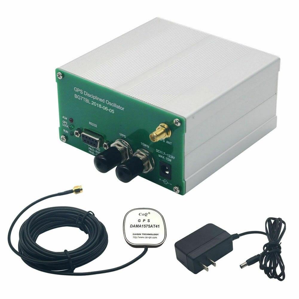 مصنوعة من قبل Bg7tbl 10MHz نظام تحديد المواقع على مدار الساعة خصم GPSDO 10M الناتج مربع موجة Squarewave + امدادات الطاقة + هوائي