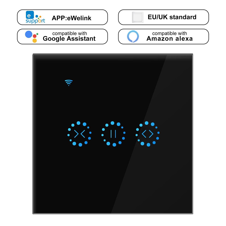 Ewelink-ستائر كهربائية ذكية مع مفتاح WiFi ، ستائر كهربائية تعمل باللمس ، تحكم صوتي بواسطة Alexa Echo Google Home AC 110 V 220V EU/US