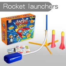 New Hot Sale Educational Toys for Children Outdoor Pedal Rocket Gun Missile Gun Toy EVA Rocket Gun Outdoor Toys Children Toys