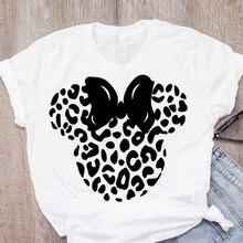 Frauen Drucken Casual Cartoon Leopard Bogen Kurzarm Sommer Dame Mädchen Frauen Kleidung Tops T-Shirt Hemd Tees Weibliche T Hemd