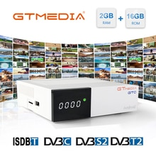 GTmedia GTC Android 6.0 TV BOX 2/16 RAM ROM DVB T2 DVB S2 DVB-C récepteur satellite récepteur ISDB-T soutien iptv espagne Cccam
