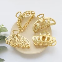 new style metal crab claw clip for women girls gold butterfly hollow crown charm barrette fashion hair accessories jewelry gift