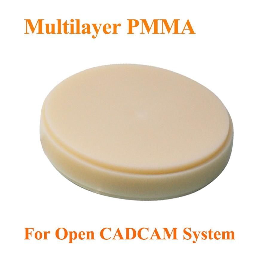 Disco multicapa de polimetilmetacrilato de acrílico PMMA, multicolores, 98x22 3 piezas