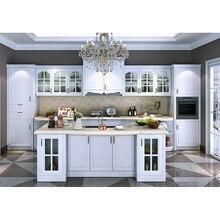 Moderne ganze küche schrank weiß glas tür küche schrank design