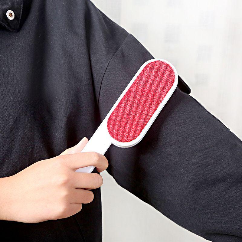 Removedor de pelusa reutilizable de doble cara para autolimpieza cepillo de limpieza de cabello para muebles cepillo de ropa de sofá