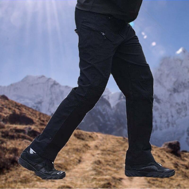 Штаны-карго мужские тактические, уличные рабочие штаны, армейские легкие повседневные штаны-карго, много карманов, для походов