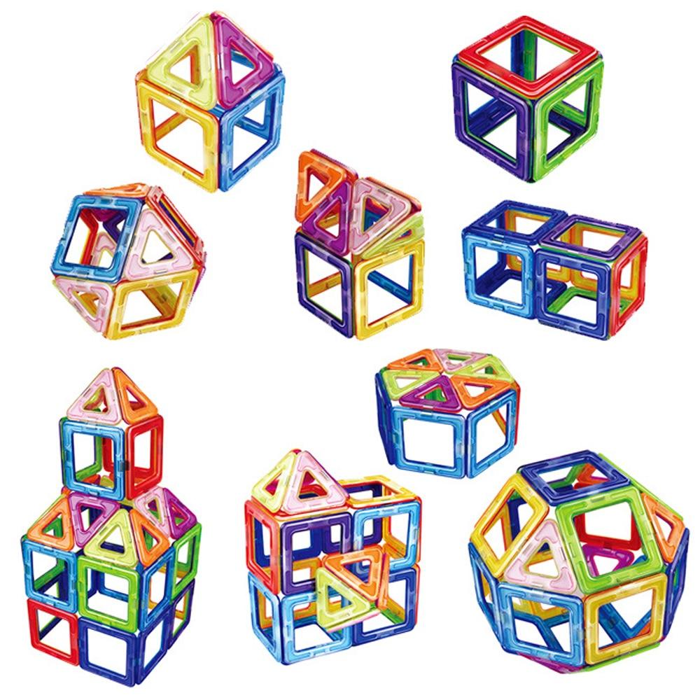 50pcs Big Magnetic Constructor Triangle Square Bricks Magnetic Building Blocks Designer Set Magnet Toys For Children Gift